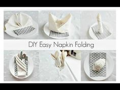 Napkin Folding: a Napkin Wedding Dress - YouTube