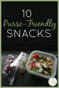 These 10 snacks are portable enough to toss in your purse for healthy eating on the run! | Fit Bottomed Eats