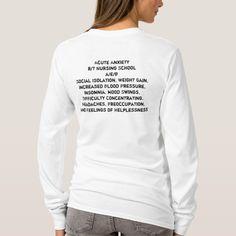 Shop Student Nurse Long Sleeve T-Shirt created by jeninthedesert. Nursing School Shirts, Nursing Schools, Nursing Career, Pediatric Nursing, Nursing Students, Student Nurse, Falmouth, Student Gifts, Nurse Gifts