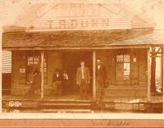 PHOTOS OF NECHES, ANDERSON COUNTY, TEXAS; Dunn drug store. Who is the young man with the tie?