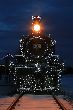 Night Train - Morrisburg, Ontario, Canada.  I actually grew up near here and we would bundle up and go out and wait for the train to pass.  It's so beautiful.