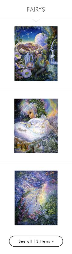 """""""FAIRYS"""" by julidrops ❤ liked on Polyvore featuring backgrounds, fantasy, art, cancer, josephine wall, fairies, josephine, faces, moon and home"""