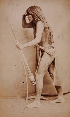 1870s Native American Yuma Quechan Indian Cabinet Card Photo by Bonine
