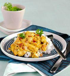 Kanakastike   Maku Finnish Recipes, Quorn, Butter Chicken, Garam Masala, Love Food, Food Inspiration, Potato Salad, Cauliflower, Macaroni And Cheese