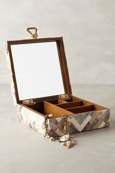 Anthropologie Carved Wood Jewelry Box anthrofave O B J E C T S