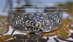 """""""Bloom Yourself Open Into The Big Wide Luscious World And Watch The Jewels Fall From The Sky""""- #amyconway #jewelry #sterlingsilver #love #poetry"""