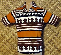 Vintage 1970s ANDRADE Mens HAWAIIAN TRIBAL TAPA Print Shirt - Large @ The Hula Hut & More Store      http://www.ebay.com/itm/Vintage-1970s-ANDRADE-Mens-HAWAIIAN-TRIBAL-TAPA-Print-Shirt-Large-/320933220802?pt=Vintage_Men_s_Clothing=item4ab91c51c2