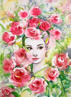Watercolor by: Ryu Eunja born 1958 in Anseong, Korea