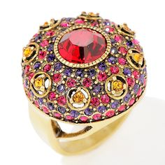 """Heidi Daus """"Infusion of Color"""" Round Crystal Ring"""