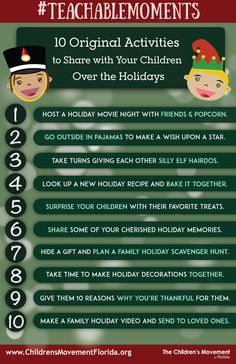 #TeachableMoments: Original Activities To Share With Your Children Over The Holidays