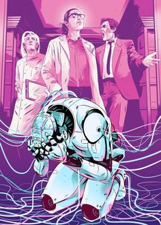 """""""I, Robot"""", by Isaac Asimov. Illustration by Alexander Wells."""