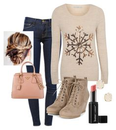 """""""Cozy Casual Winter look"""" by emily-hone on Polyvore featuring Frame Denim, George, Prada, Kendra Scott and Butter London"""