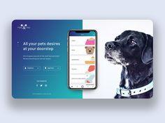 Pet App Landing by Avinash Tripathi