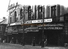 The Grand Theatre, 46 North Road, Brighton. Today Gresham House and the North Road car park occupy the site where it once stood. Brighton Rock, Brighton England, Brighton And Hove, Abandoned Castles, Abandoned Mansions, Abandoned Houses, Abandoned Places, 1920 London