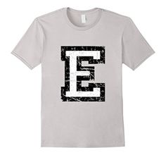 T-Shirts & Gifts with a printed distressed letter E. For names, words, sentences, athletes, sports clubs, societies, clubs, teams or jerseys. If you are interested in the letter E, alphabet, starting letters, initials, initial, name, jersey, sports club or team, you might like this shirt. You can combine several shirts to write entire names or sentences.