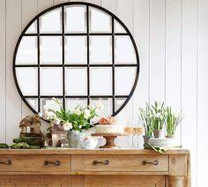 3 Simple Tricks: Wall Mirror With Shelf Light Fixtures oversized wall mirror inspiration. Wall Mirror With Shelf, Rustic Wall Mirrors, Contemporary Wall Mirrors, Round Wall Mirror, Diy Mirror, Round Mirrors, Mirror Ideas, Decorative Mirrors, Foyer Ideas