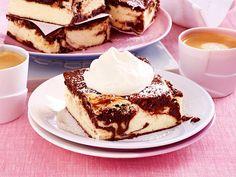 Brownie-Käsekuchen vom Blech Rezept | LECKER