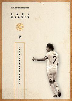 SOCCER LEGENDS VOL. 1 on Behance God Of Football, Football Is Life, Retro Football, Football Design, Football Soccer, Raul Real Madrid, Fifa, Soccer Images, Soccer Poster