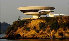 Oscar Niemeyer's Niteroi Contemporary Art Museum in Brazil