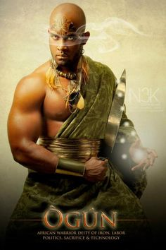 """OGUN: Yoruba Orisha"" by International photographer James C. Lewis"