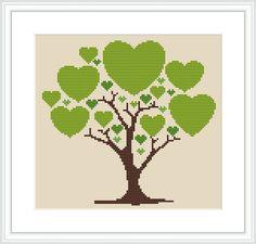 Сross stitch pattern PDF / JPEG Instant by MagicCrossStitch 123 Cross Stitch, Cross Stitch Tree, Cross Stitch Heart, Cross Stitch Cards, Cross Stitch Fabric, Simple Cross Stitch, Cross Stitching, Cross Stitch Embroidery, Modern Cross Stitch Patterns
