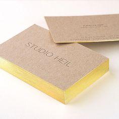 Contrast. Studio Heil Letterpress business cards.