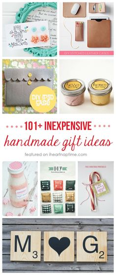 101 inexpensive handmade Christmas gifts I Heart Nap Time | I Heart Nap Time - Easy recipes, DIY crafts, Homemaking
