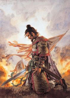 Asian inspired art and illustrations ☆ Artist Tsuyoshi Nagano ☆ Ronin Samurai, Samurai Warrior, Fantasy Warrior, Fantasy Art, Samourai Tattoo, Character Art, Character Design, Samurai Artwork, Oriental Tattoo