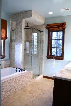 Master bath idea..have similar set up already...