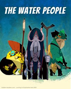 The Water People are one of four factions in our card game #HiddenLeaders. They are mythical beings that try to maintain the fragile peace on the island of Oshra. They live on the island since the land rose above the sea and defeated the Undead long before any living human set foot on the island. They were worshiped by the Hill Tribes as old and wise beings. Yet under the rule of the Empire they were neglected in favour of the cult of the sun God and they largely retreated into hiding. Water People, The Fragile, Goblin, Card Games, Creatures, Hero, This Or That Questions, Cards, Empire