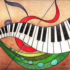 Music Drawing by Michelle Young