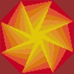 Intense cross stitch pattern.