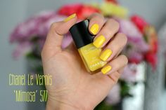 Chanel 'Mimosa' Yellow nail polish #swatch #nails