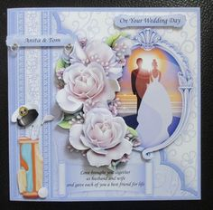 Wedding Day at Sunset 8x8 Decoupage Mini Kit by Davina Rundle: I printed on to matte photo paper, adding my own words to the blank tag.…