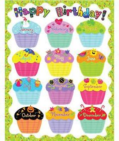 Creative Teaching Press Poppin' Patterns Happy Birthday Poster Chart by manufacturer): Celebrate birthdays throughout the year! Use to decorate bulletin boards, hallways, doors, and common areas! Birthday Chart Classroom, Birthday Bulletin Boards, Birthday Charts, Classroom Decor, Preschool Birthday Board, Classroom Posters, Chevron Classroom, Classroom Teacher, Free Birthday