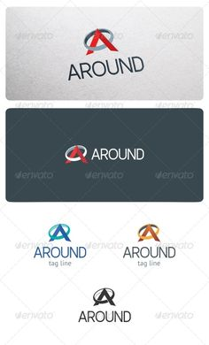 Around Logo Template — Vector EPS #modern #A logo • Available here → https://graphicriver.net/item/around-logo-template/6803749?ref=pxcr
