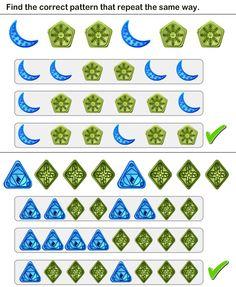 math worksheet : pattern match worksheet29  math worksheets  kindergarten  : Math Reasoning Worksheets