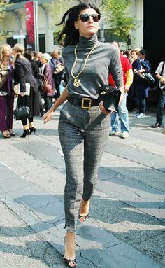 Giovanna Battaglia - New York Fashion Editor - winter fashion - Grey