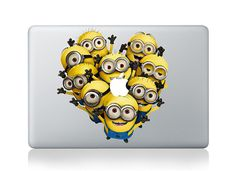 Minions -- Mac Decal Mac Sticker Macbook Decals Macbook Stickers Vinyl Decal for Apple Laptop Macbook Pro / Macbook Air / iPad on Etsy, $8.99