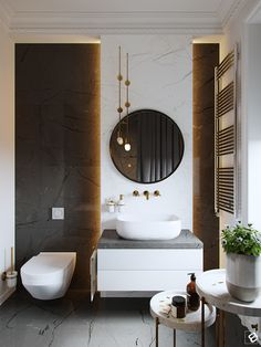 Black-white modern classic interior