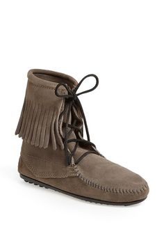 Minnetonka 'Tramper' Fringed Suede Ankle Bootie (Regular Retail Price: $59.95) available at #Nordstrom