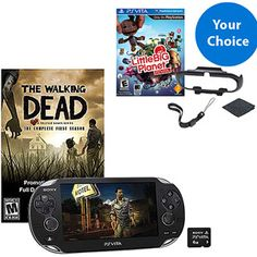 PlayStation Vita 3G/Wi-Fi Walking Dead Solution Bundle w/ Choice of Game and Accessory