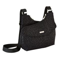 Black Cheetah Tred Crossbody Bag by baggallini®
