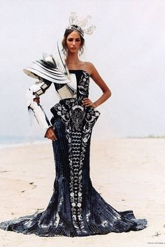 Arthur Elgort. fashion with armour.... nice dress.... a bit over the top but still part of armour fashion!
