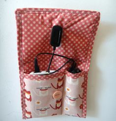 Porta Carregador de celular / mobile phone charger bag { DIY tutorial}