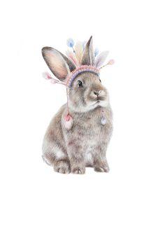 """Chief Bunny"" Print – Miss Lolo"