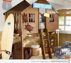 cedar works loft beds for kids | Kid's Bedroom Furniture: Exciting Loft Bed Designs | Home Design Lover
