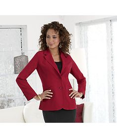 Boyfriend Blazer from Monroe and Main. Fun, like sneaking something out of his closet. See more tips to Camouflage Midsection in our Fit For You Guide: www.monroeandmain.com/fit