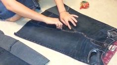 How to make a skirt out of jeans.