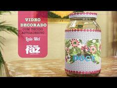DIY - Vidro decorado (Lais Mei) - YouTube
